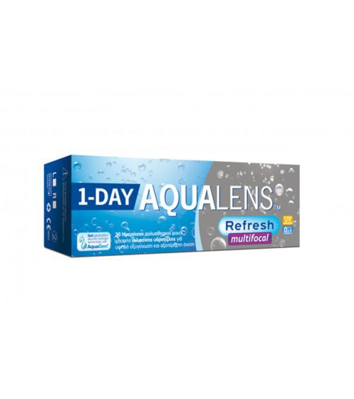 AQUALENS REFRESH 1 DAY MULTIFOCAL Ημερήσιοι πολυεστιακοί φακοί 30 φακοί