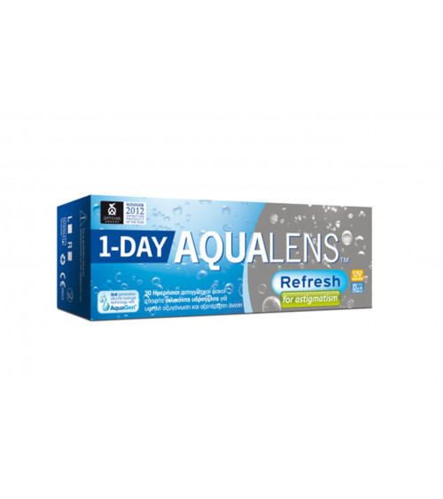AQUALENS 1 DAY ASTIGMATISM 30 pack