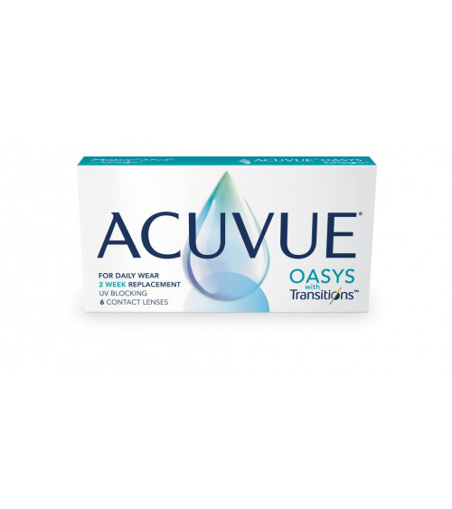Acuvue Oasys with Transitions™ μυωπίας-υπερμετρωπίας Δεκαπενθήμεροι 6τμχ