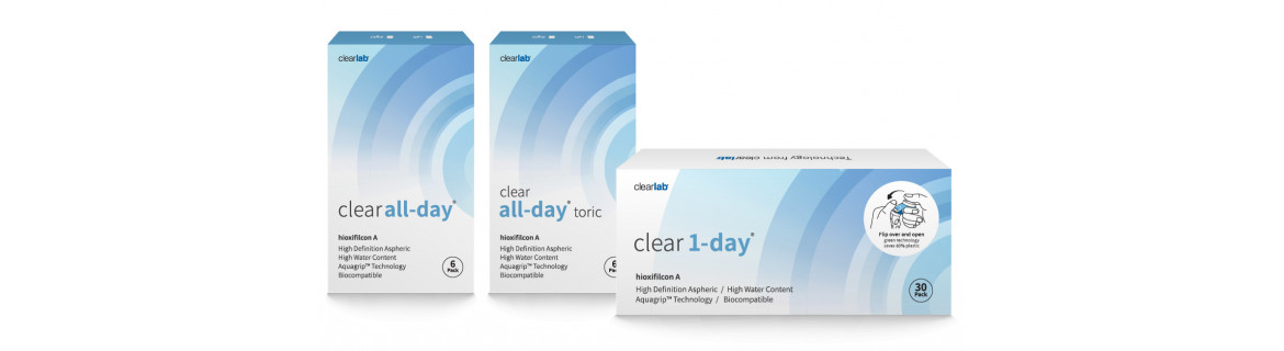 Clear family contact lenses