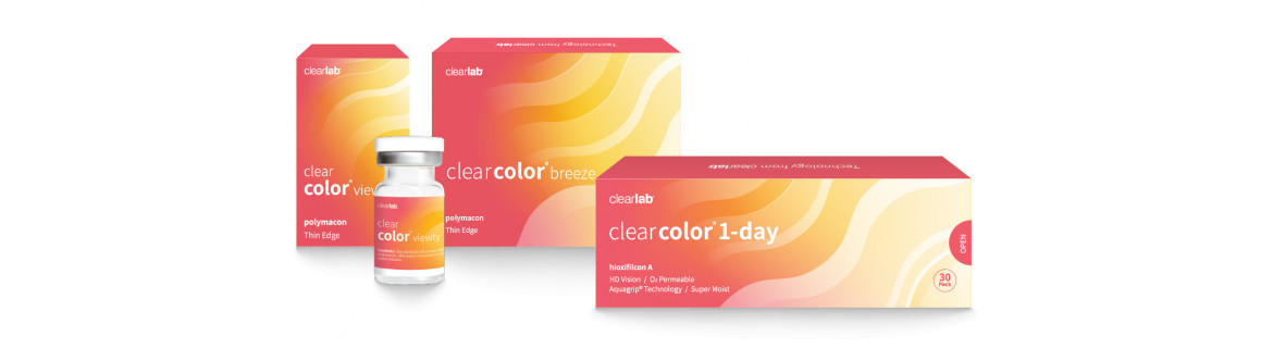 Clear color contact lenses